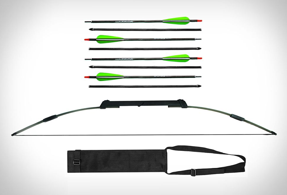 Compact  Break Take Down Survival Bow The Raptor 2in1 45//55lb Kit with arrows