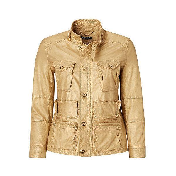 ralph lauren lauren woman metallic leather cargo jacket ($808