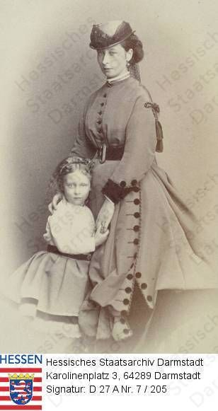 Grand Duchess Alice of Hesse and Princess Ella