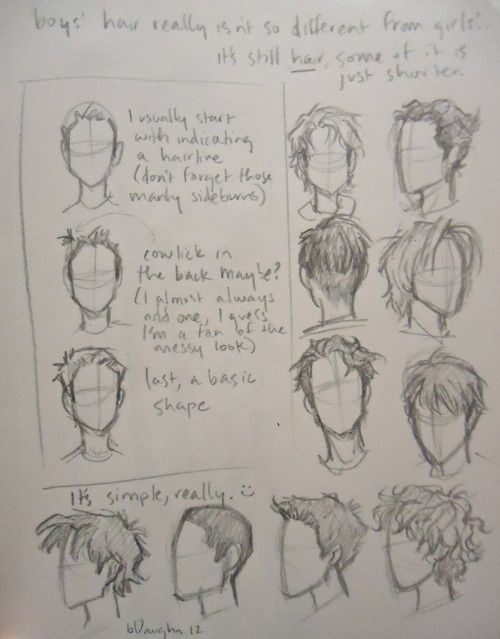 I Kept Getting Asked About How I Draw Boys Hair Which Confused Me Cause I Didn T Really Know How To Explain It Guy Drawing How To Draw Hair Drawing People