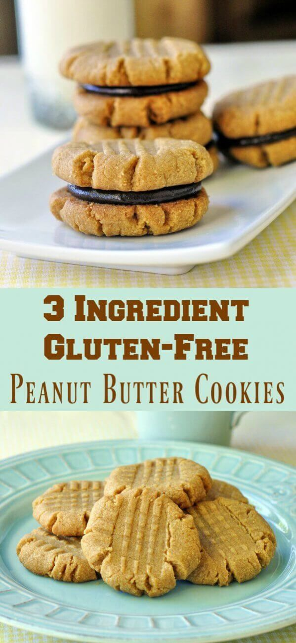 3 Ingredient Gluten Free Peanut Butter Cookies 3 Ingredient Gluten Free Peanut Butter Cookies Gluten Free Recipes 3 ingredient gluten free peanut butter cookies