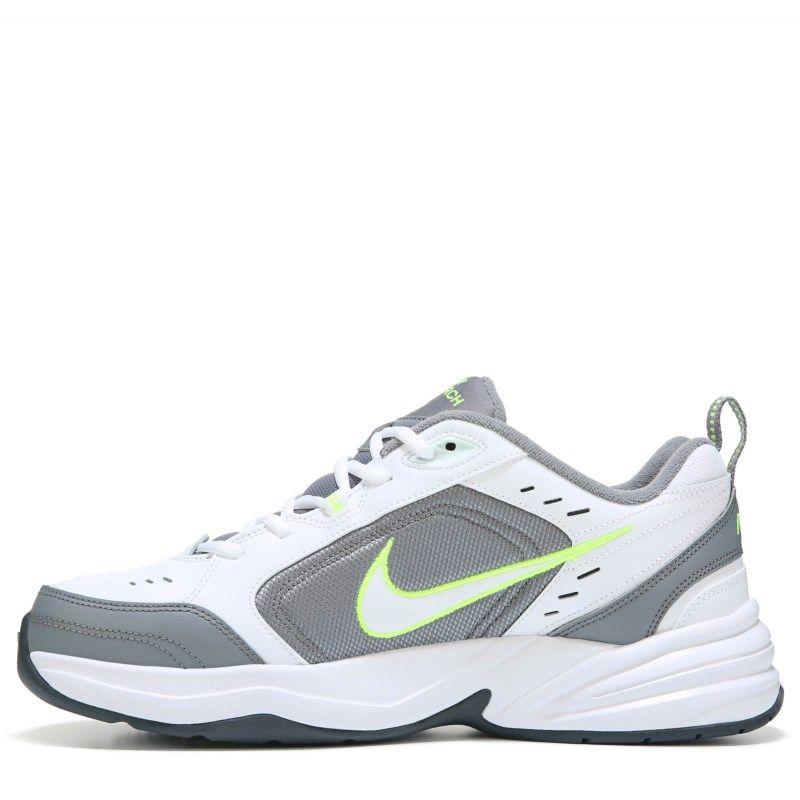 Nike Men's Air Monarch IV Training Shoes (Grey/White/Volt)