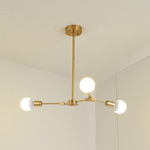 Bokt Mid Century Modern 3 Light Chandeliers Multi Adjustable