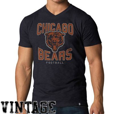 8448456c0 47 Brand Chicago Bears JV Team Color Scrum V-Neck T-Shirt - Navy ...