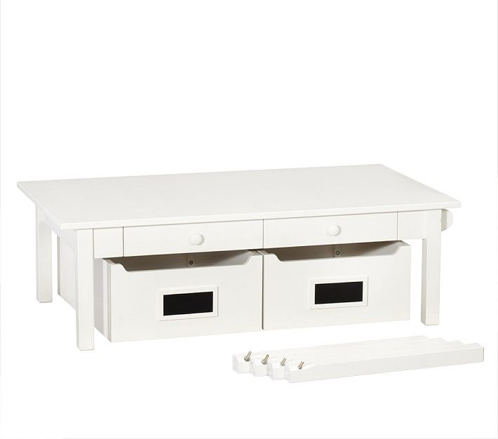craft table with storage pottery barn crafting. Black Bedroom Furniture Sets. Home Design Ideas