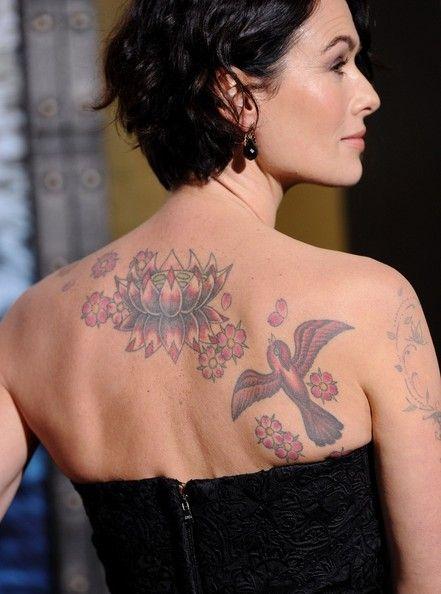 Lena Headey Back Tattoo