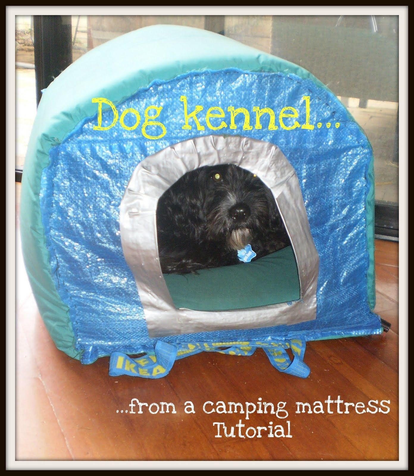 Dog Kennel From An Ikea Bag And Camping Mattress Ikea Hackers Dog Kennel Camping Mattress Dog Kennel Cover