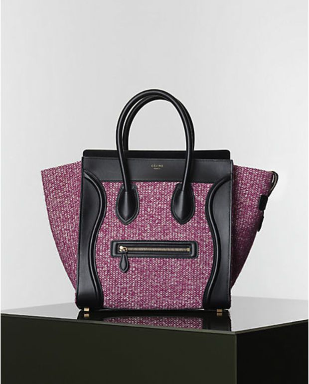 cc405cb4b68 Celine Mini Luggage Handbag in Tweed Color  Grape Size  X X inches Price   euro s How about this… Celine Luggage Totes from the Winter 2014  Collection, ...