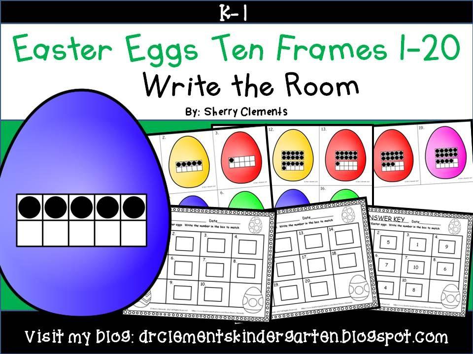 Easter Egg Write the Room (Ten Frames 1-20) | Ten frames ...