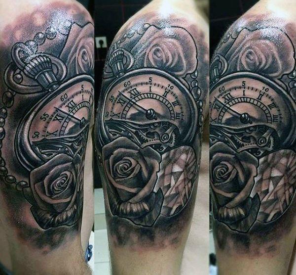 Roman Numeral Clock Tattoos For Men   Tattoos   Pinterest ...