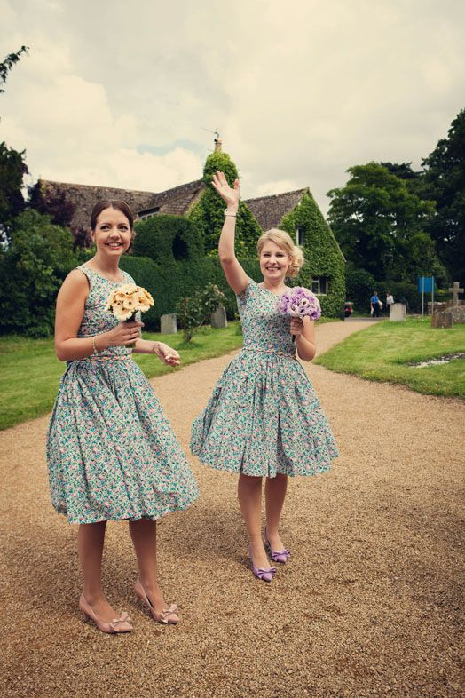 52aeae1debc Alexandra King - Vintage Inspired Clothing.   Caroline and Angus - Liberty  print bridesmaid dresses by Anna Vickery for Alexandra King