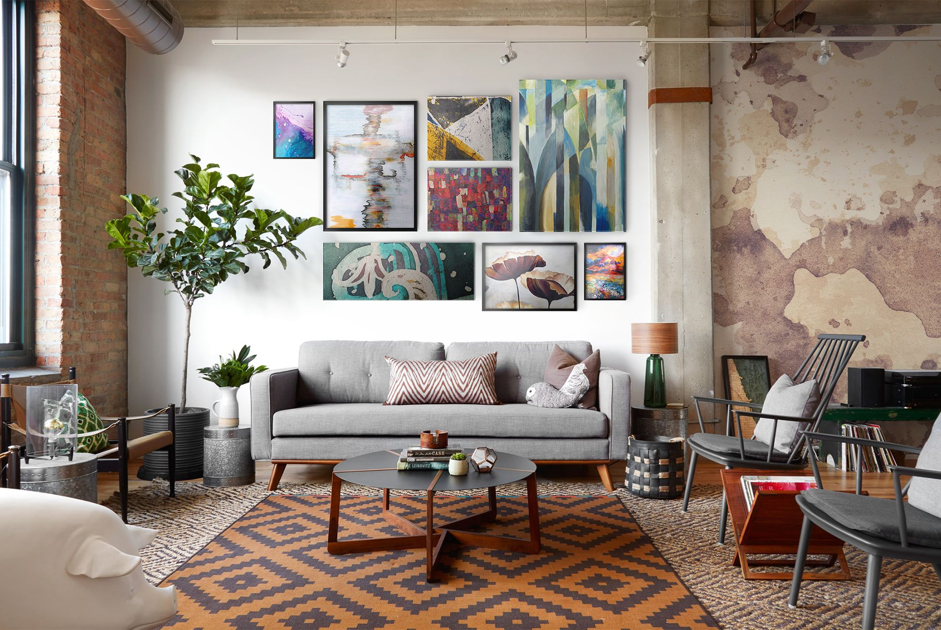 Home gallery • Living room Contemporary Wall Murals Prints
