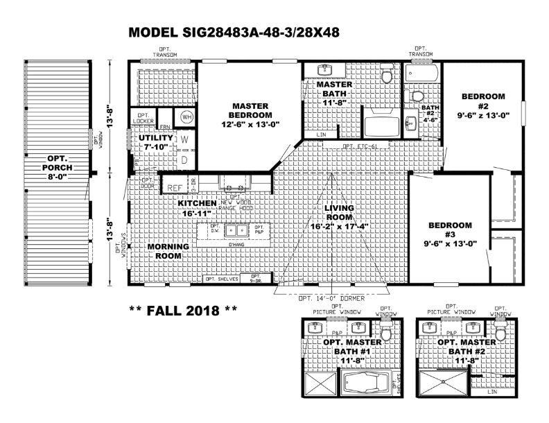 Southern Farmhouse Floor Plan 1 312 Sq Ft Southern Farmhouse Clayton Homes Farmhouse Floor Plans