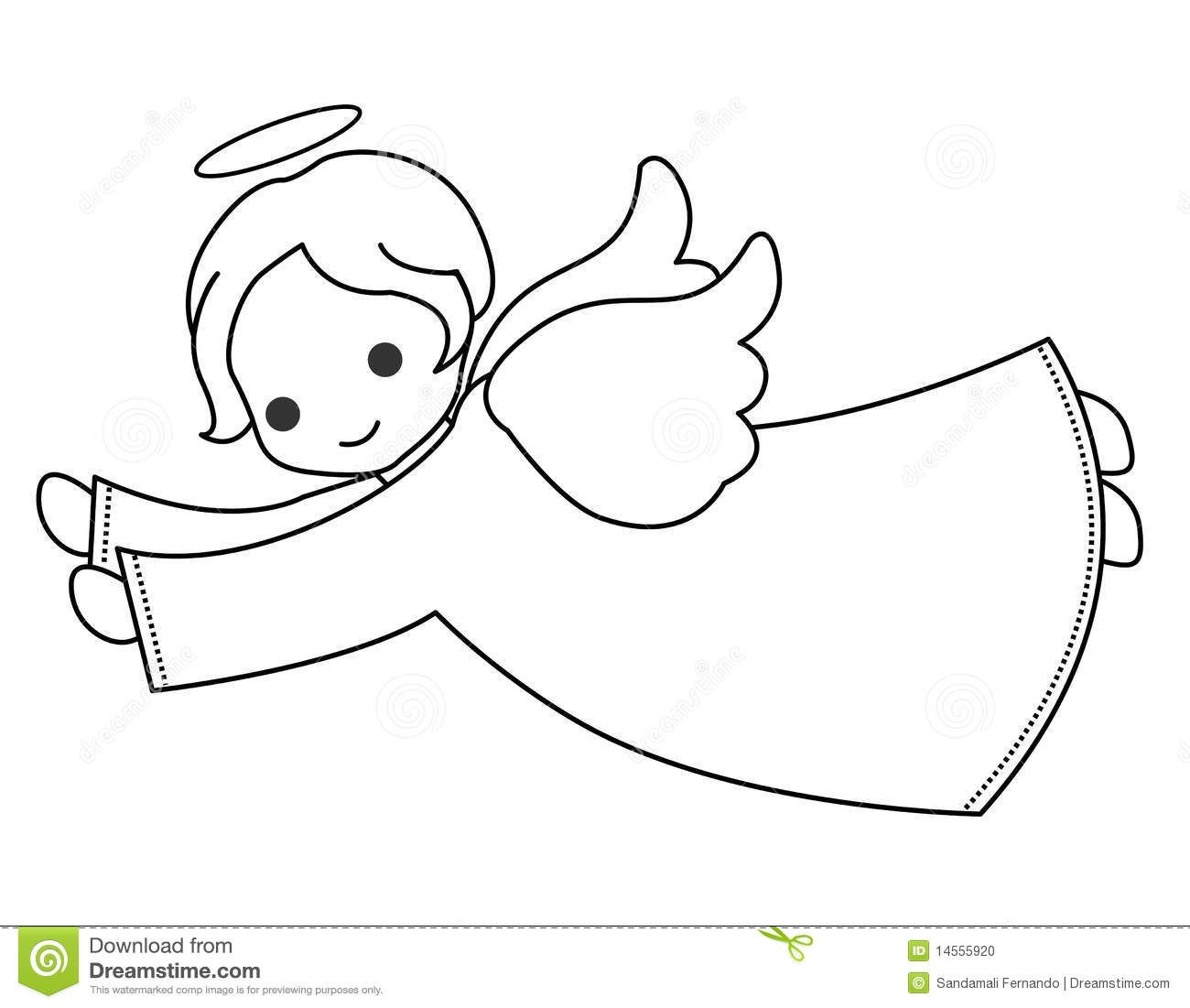Angel Little Fairy Vector Illustration Isolated On White