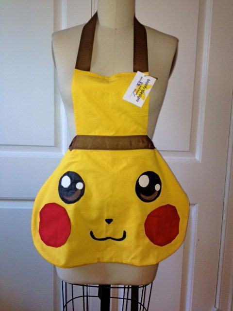 Pikachu Apron by blairifydesigns on Etsy, $16.00