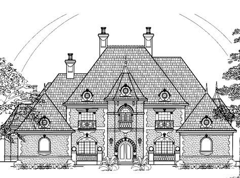 Eplans Chateau House Plan Four Bedroom Chateauesque 4955 Square Feet And 4 Bedrooms S From Eplans Hou House Plans Floor Plan Sketch European House Plans