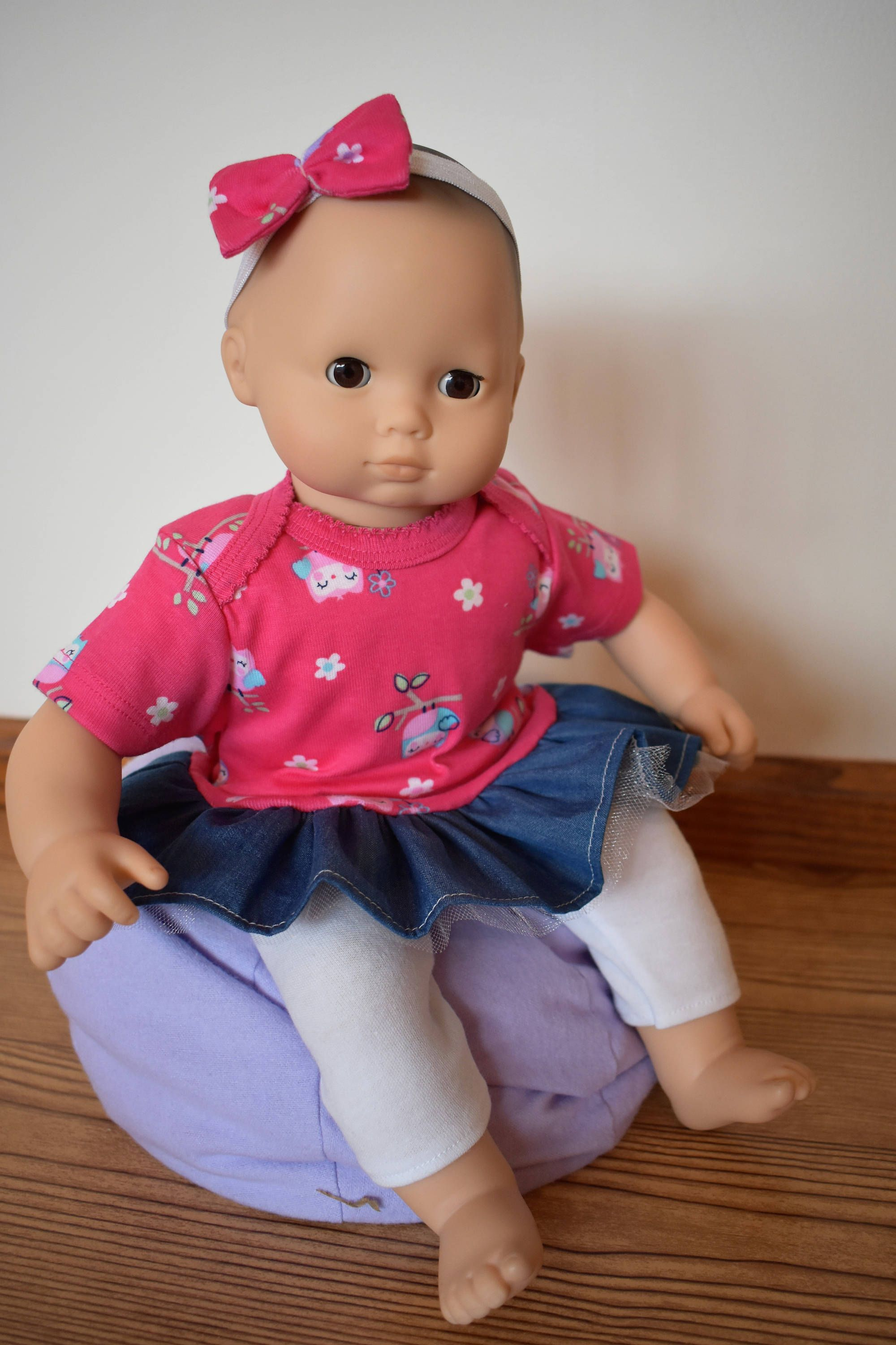 """15"""" Doll Owl Dress for American Girl Doll Bitty Baby and Twins"""