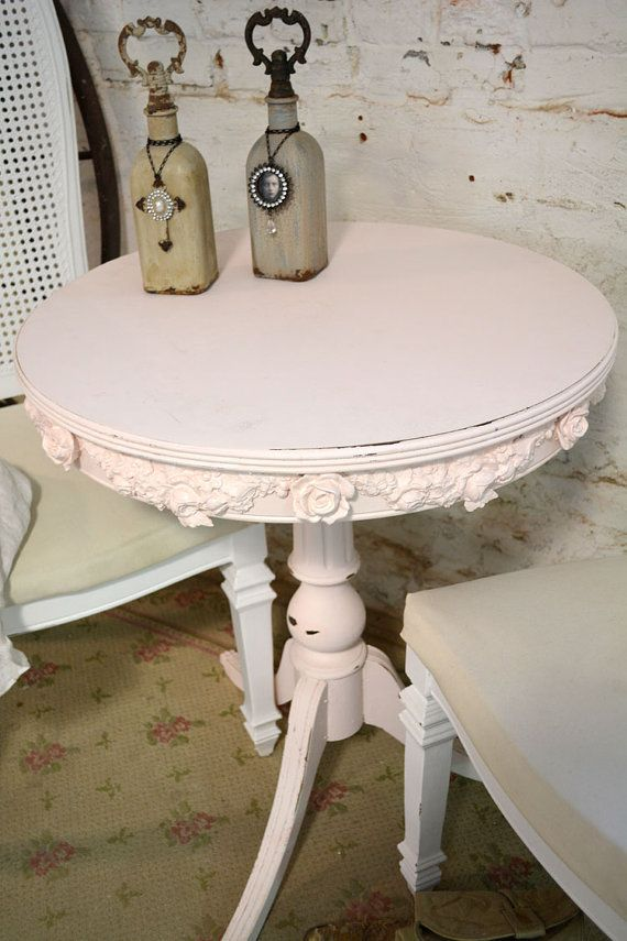 Painted Cottage Chic Shabby White Romantic by paintedcottages, $120.00