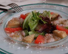 Carpaccio de langoustines aux artichauds et pamplemousse rosé : http://www.cuisineaz.com/recettes/carpaccio-de-langoustines-aux-artichauds-et-pamplemousse-rose-47263.aspx