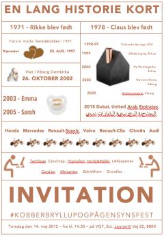 kobberbryllup invitation gratis