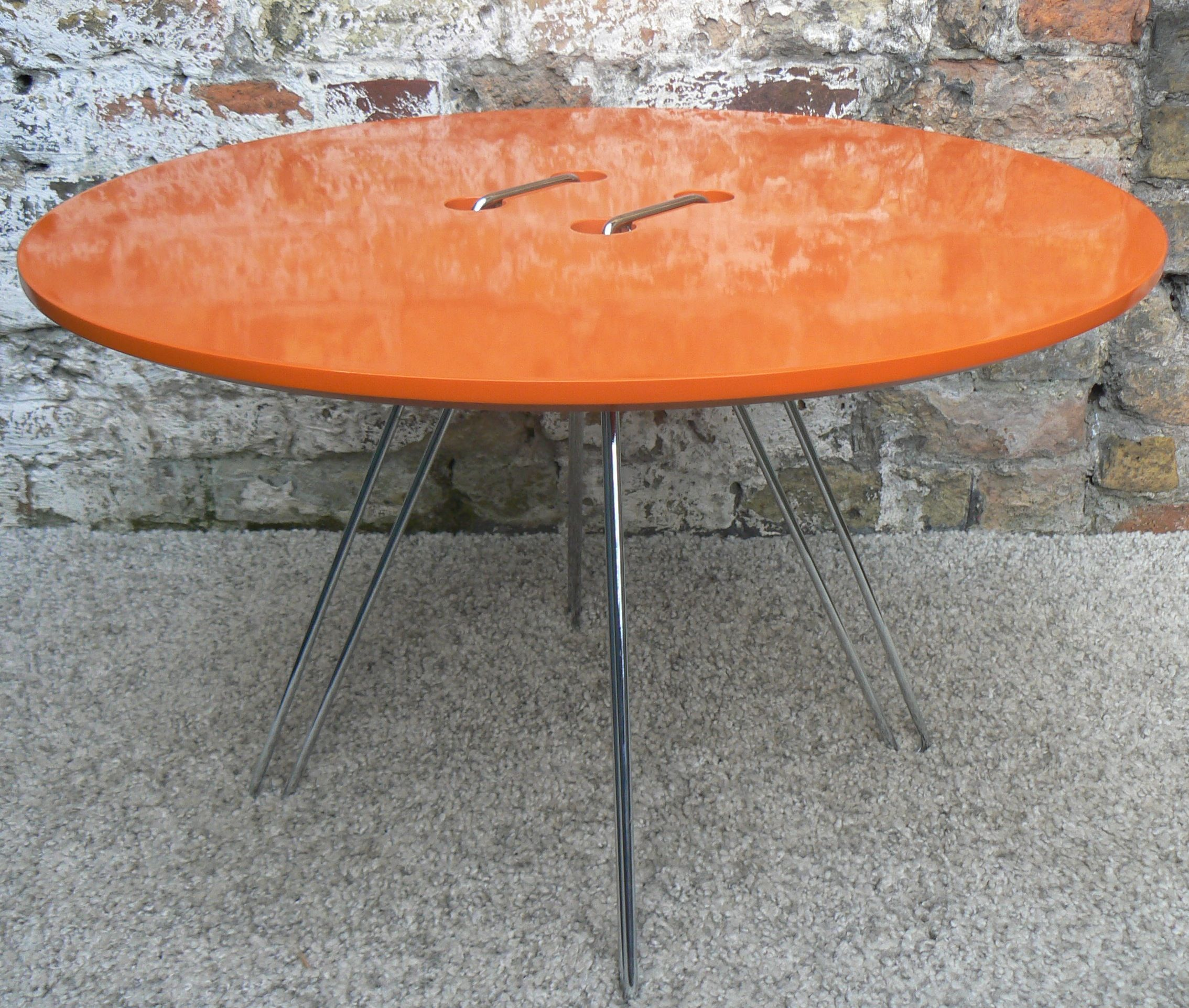Retro-style Coffee Table In Plastic & Chrome. Brand New