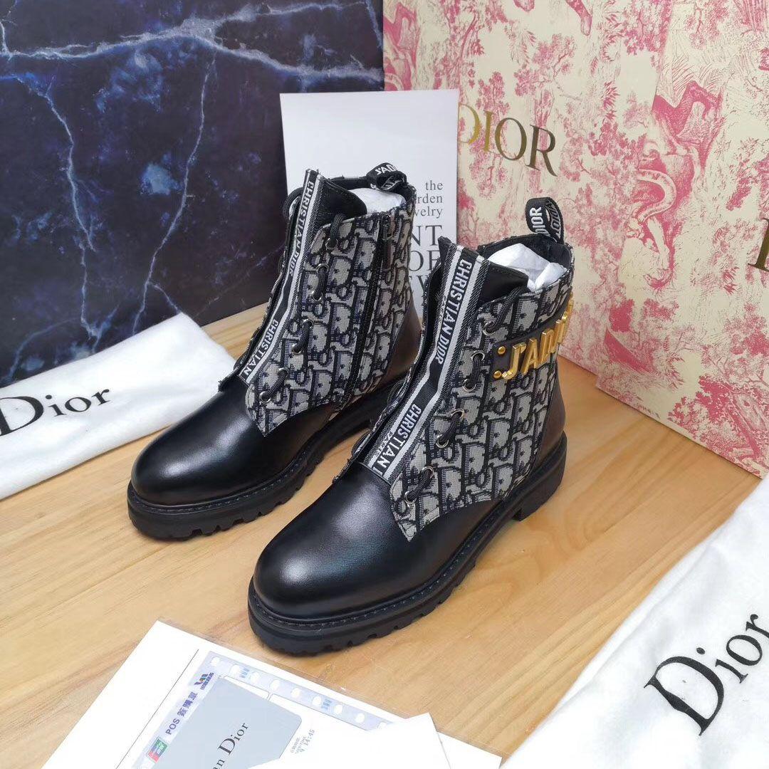 2019 Autumn Dior Oblique Ankle Boot