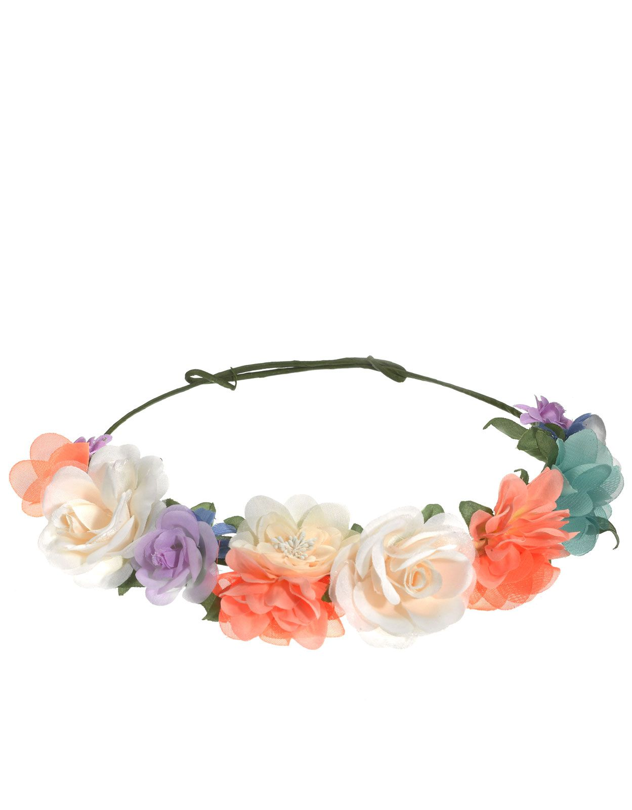 Neon And Pastel Flower Crown Multi Accessorize On My Head