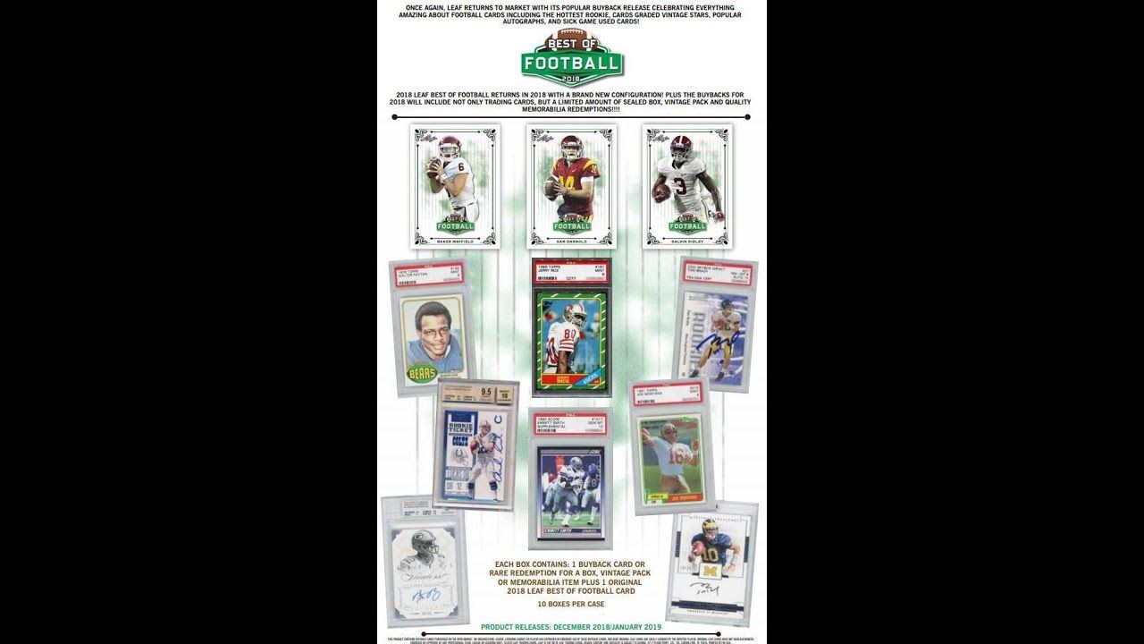 2018 best of football full case break preview 11 tags