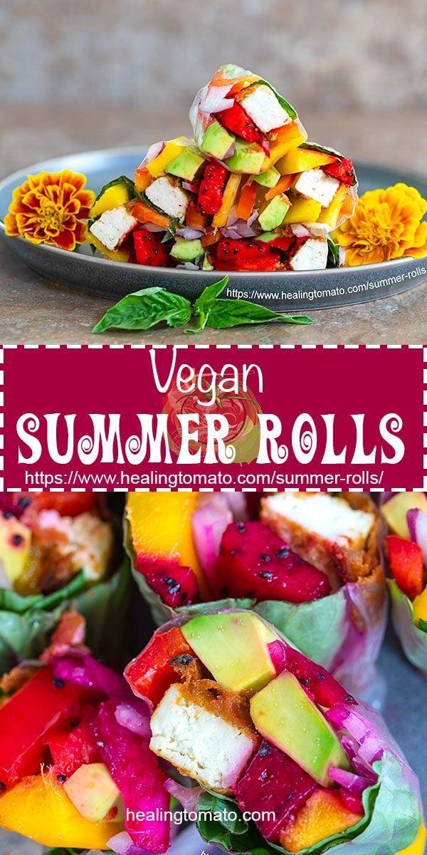 Vegan Summer Rolls Using Dragon Fruit