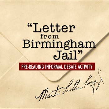 letter from birmingham jail counterarguments Get help on 【 letter from birmingham jail essay 】 on graduateway ✅ huge assortment of free essays & assignments ✅ the best writers letter from birmingham jail states king's intentions of responding to such criticisms in a non-radical or violent manner.