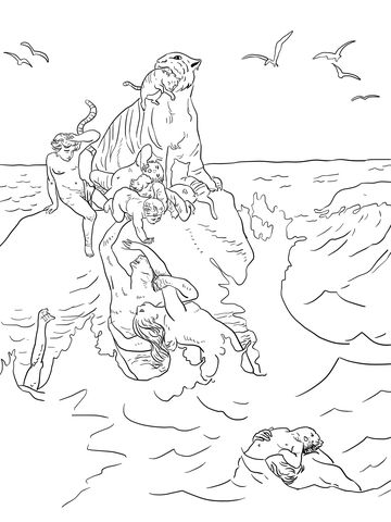 The Great Flood Coloring Page Coloring Pages Free Coloring Pages Printable Coloring Pages