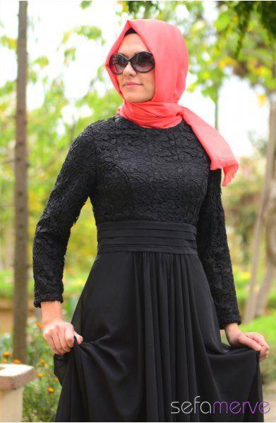 94170b83945e2 Abiye Elbiseler PDY 3264-02 Siyah | elbise | Elbiseler, Giyim ve Siyah