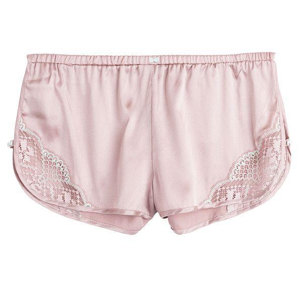 Heidi Klum Intimates Little Havana French Sleep Shorts ($61) ❤ liked on Polyvore featuring intimates, sleepwear, pajamas, purple and purple pajamas
