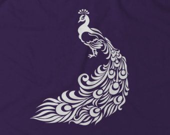 Peacock T-Shirt, Handmade Screen Print Tshirt | Gift For Her Women | Christmas Gift Idea | Peacock Art | Minimalist Design | Animal Shirt