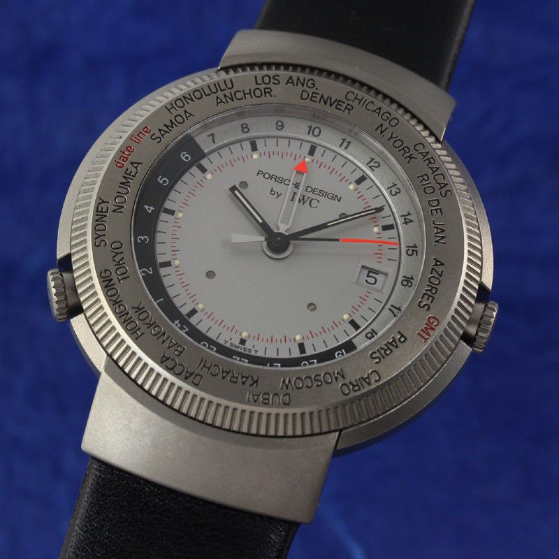 IWC PORSCHE DESIGN TITAN WORLD TIME GMT WELTZEIT ALARM HERRENUHR REF 3821 / 3822 | eBay