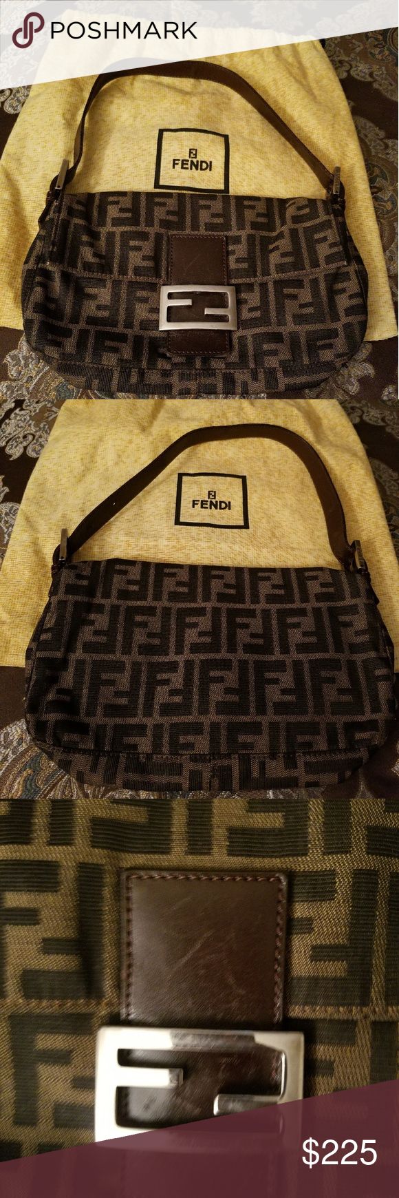 Vintage Fendi Zucca Baguette Bag Fendi Fendi Bags Bags