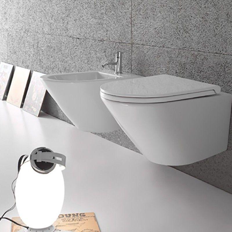 Sanitari Sospesi Ceramica Globo Forty3 52 WC + BIDET + SEDILE ...