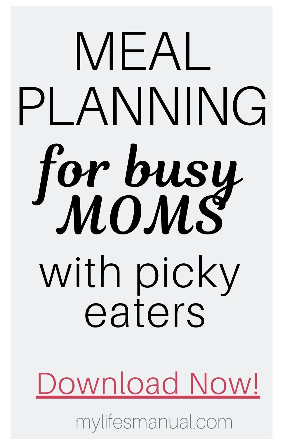 Meal Planning Binder and Beginners Guide for Busy Moms