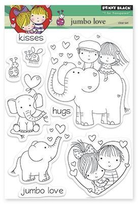 Penny Black 30-302 Love and Yoga Transparent Stamp Set