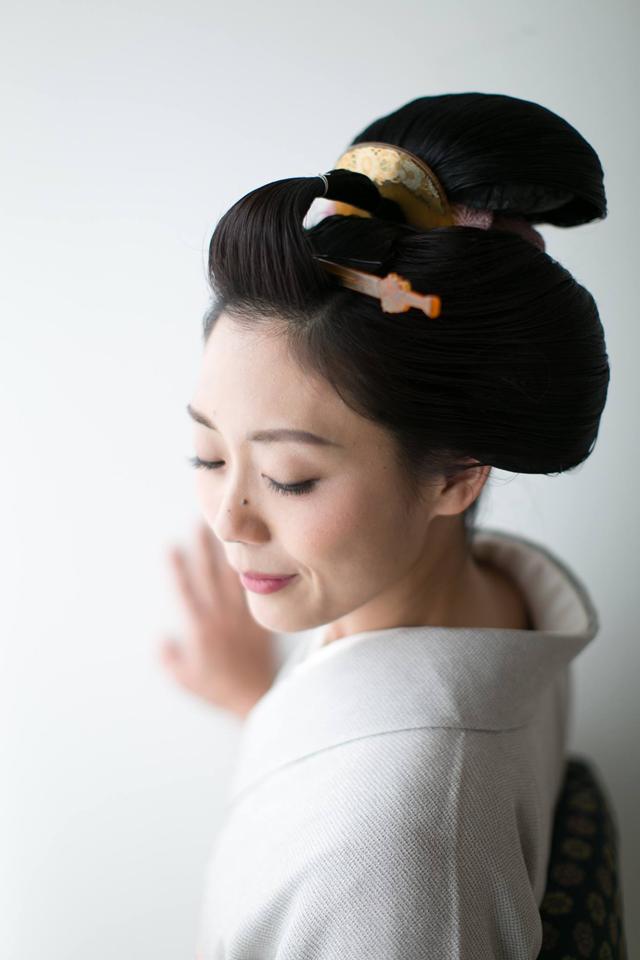 丸髷 結髪 丸髷 地毛結い日本髪 鬢付け油 縁 Enishi ヘア