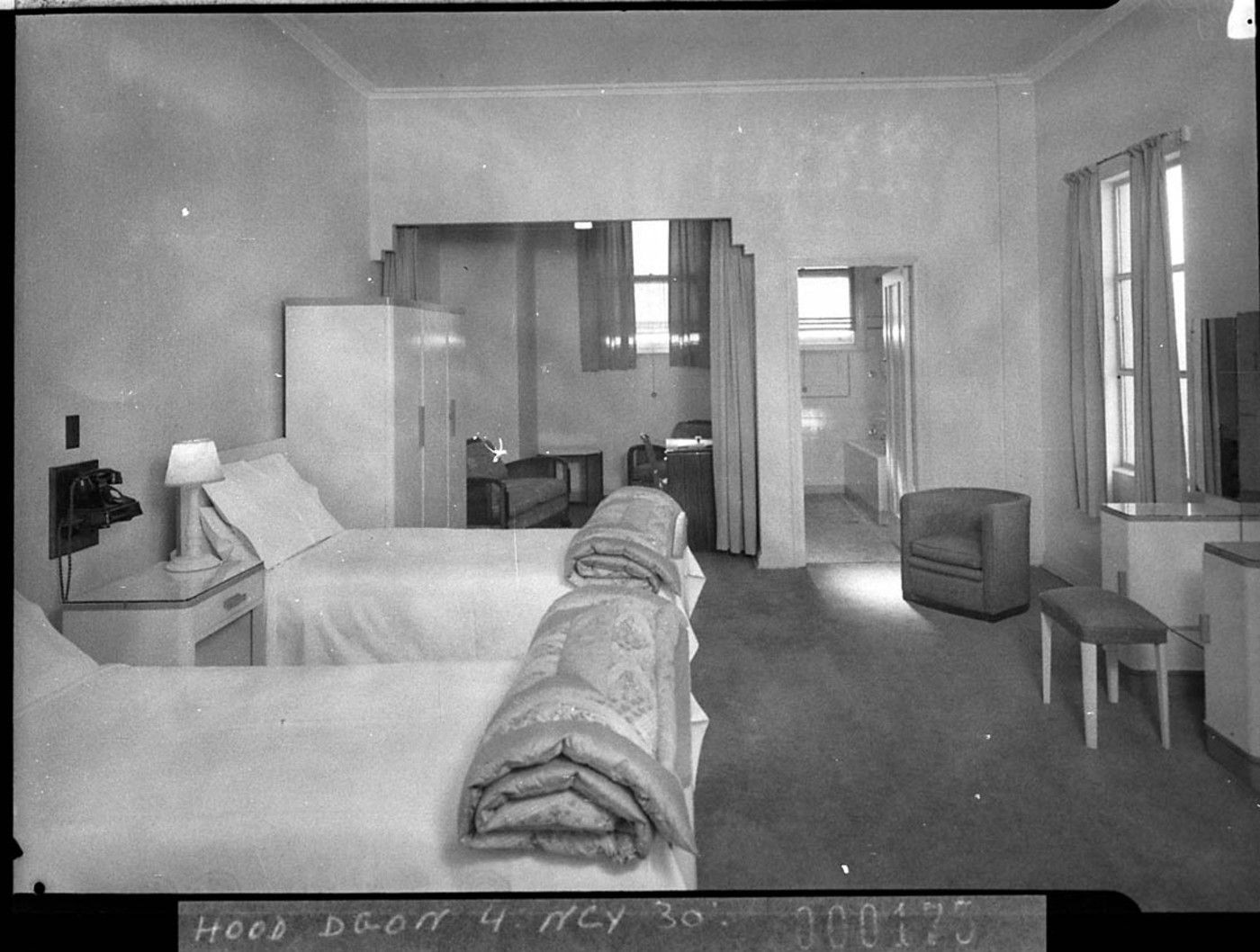 Art Deco Style Bedroom Wentworth Hotel Sydney 1930s