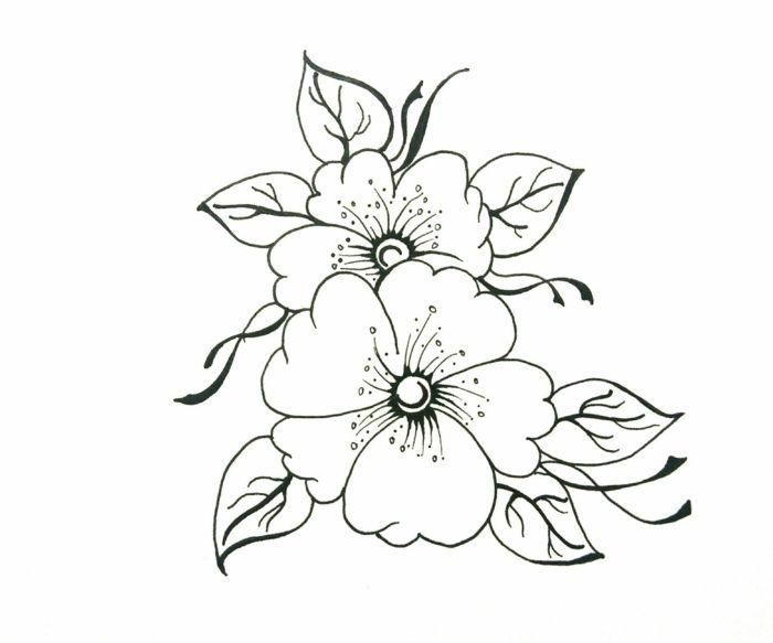 1001 Ideas De Dibujos De Flores Faciles Y Bonitos Dibujos De Flores Flores Para Dibujar Dibujos