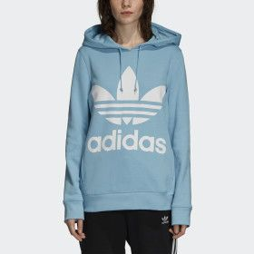 best where can i buy in stock Trefoil Hoodie Blue L Womens in 2018 | ▫ Adidas ...