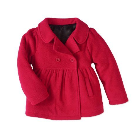 b9b5922a7d3b Healthtex Baby Toddler Girls' Essential Peacoat Jacket, Size: 4 Years, Red