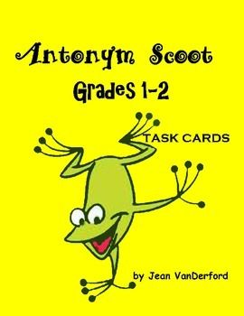 SCOOT!: Antonym Scoot! is full of vocabulary used in first and second grades. The 28 ANTONYM SCOOT! TASK CARDS each have a vocabulary word with four choices from which to choose an antonym as students Scoot!These antonym SCOOT! cards build vocabulary, knowledge of antonyms, and improve spelling and comprehension.With emphasis on core curriculum standards, our goal is to provide busy teachers with exercises to implement in a variety of ways.