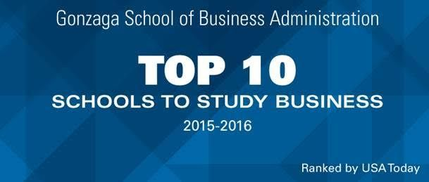 Congratulations to Gonzaga School of Business for making the Top 10.  http://college.usatoday.com/2015/10/16/top-10-business-schools/  #gonzagamba #gonzagaschoolofbusiness #usatoday