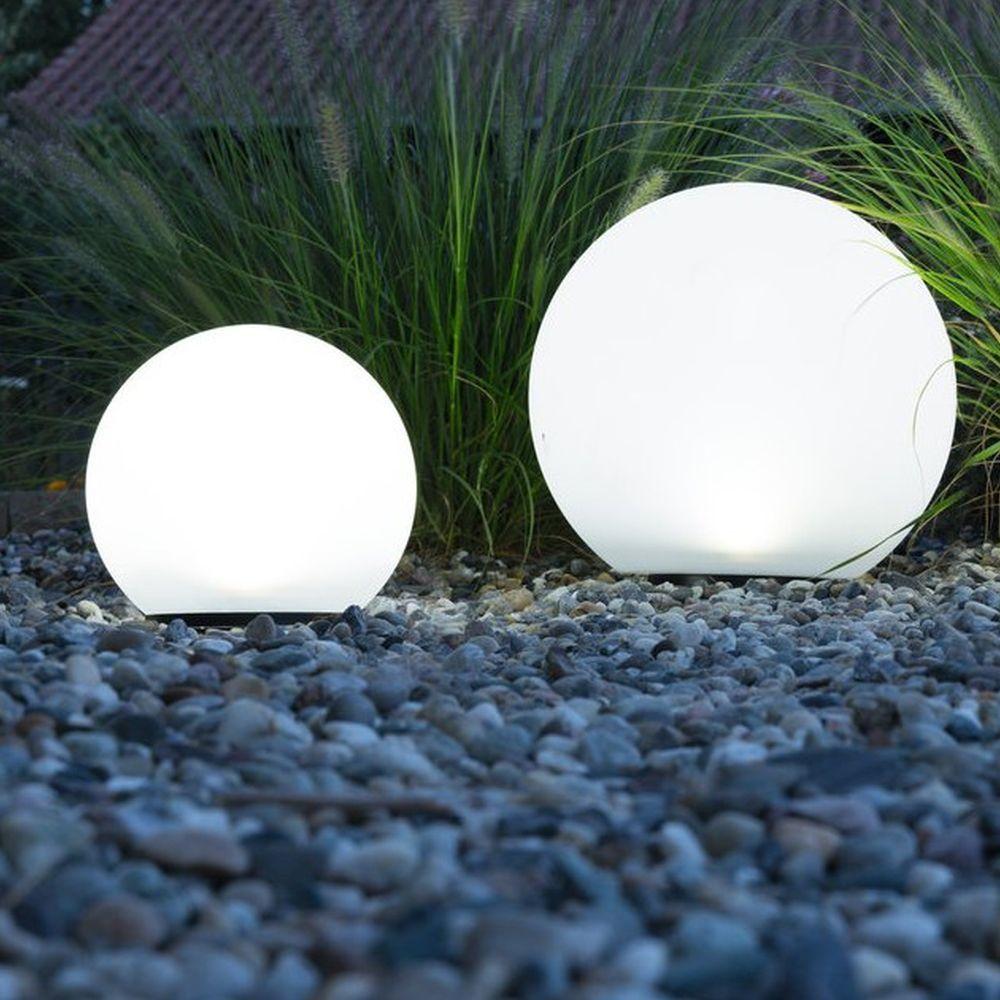 Solar Led Kugel Boule 200mm Heitronic 35419 Solarkugeln Garten Beleuchtung Garten Gartenkugeln