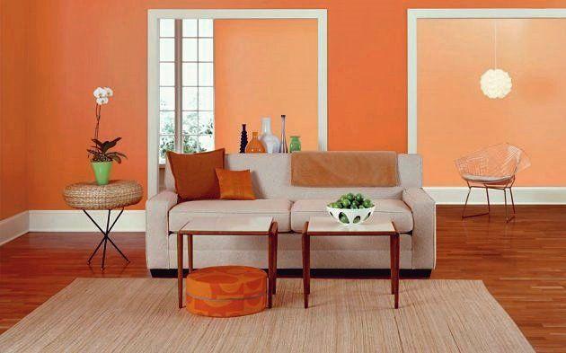 15 Attraktive Ideen für eine orangefarbene Raumgestaltung ...