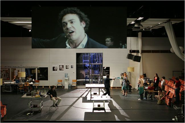Ivo Van Hove Is Known In America For His Bold Actor Centered Stagings Of Classic Dramas But Opening Set Design Theatre Scenic Design Theatres Scenic Design
