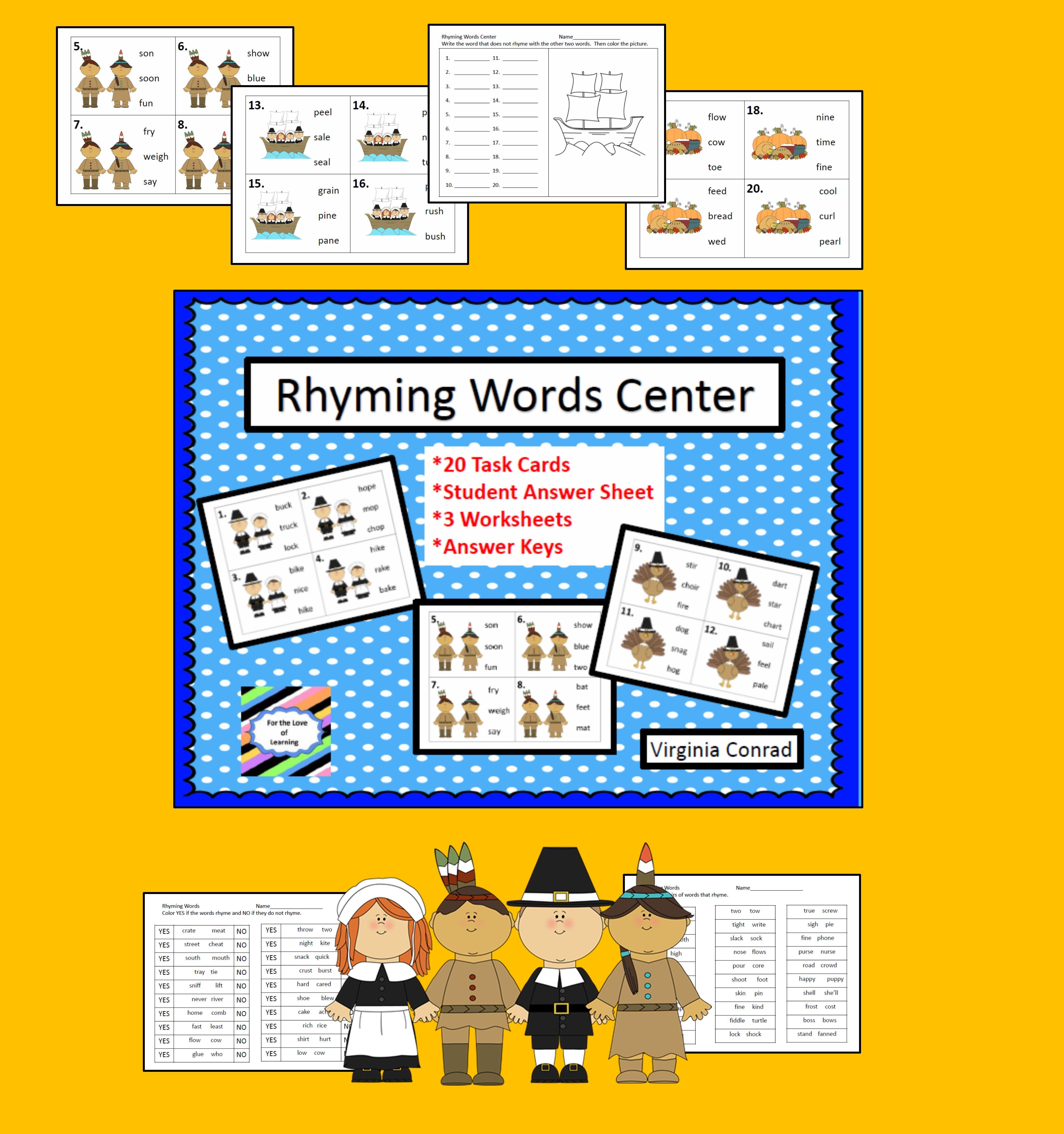 Rhyming Center Thanksgiving Graphics